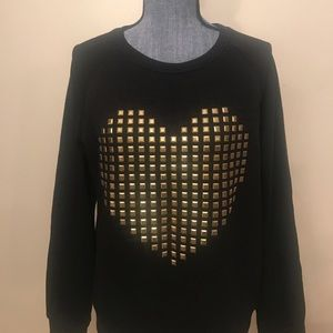 Forever 21 gold heart sweater